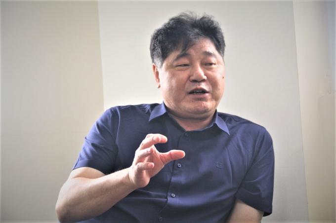 Ông Lê Quốc Thanh, Giám đốc Trung tâm Khuyến nông Quốc gia. Ảnh:Phạm Hiếu.