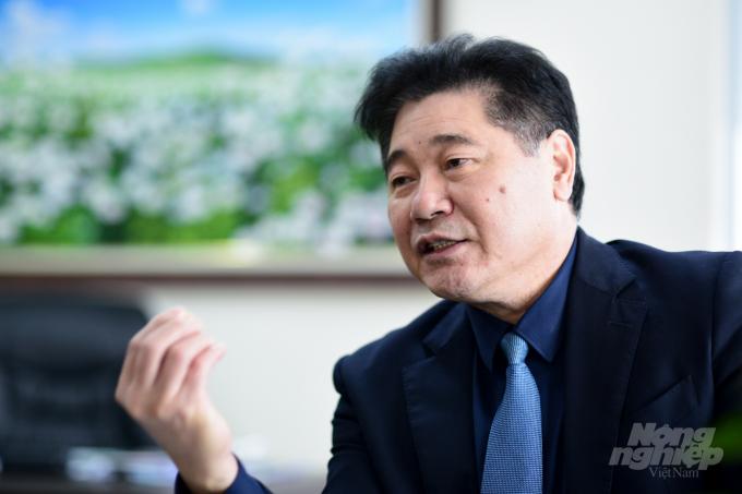 Giám đốc Trung tâm Khuyến nông Quốc gia Lê Quốc Thanh. Ảnh: Tùng Đinh.