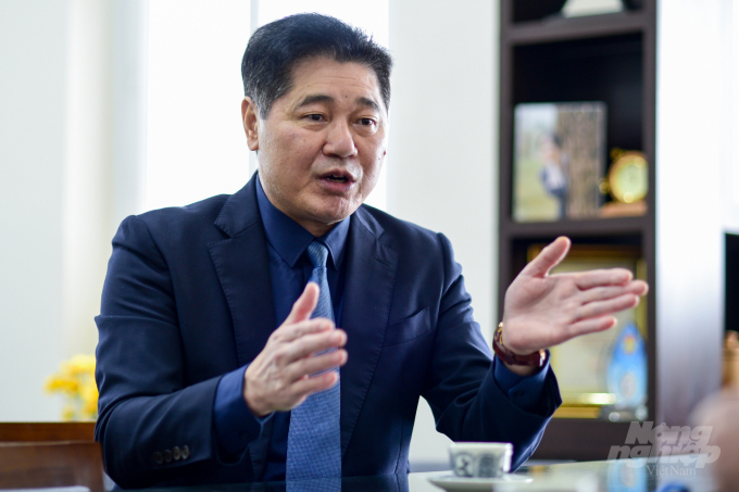 Giám đốcTrung tâm Khuyến nông quốc gia Lê Quốc Thanh chia sẻ về hợp tác công tư - PPP. Ảnh: Tùng Đinh.